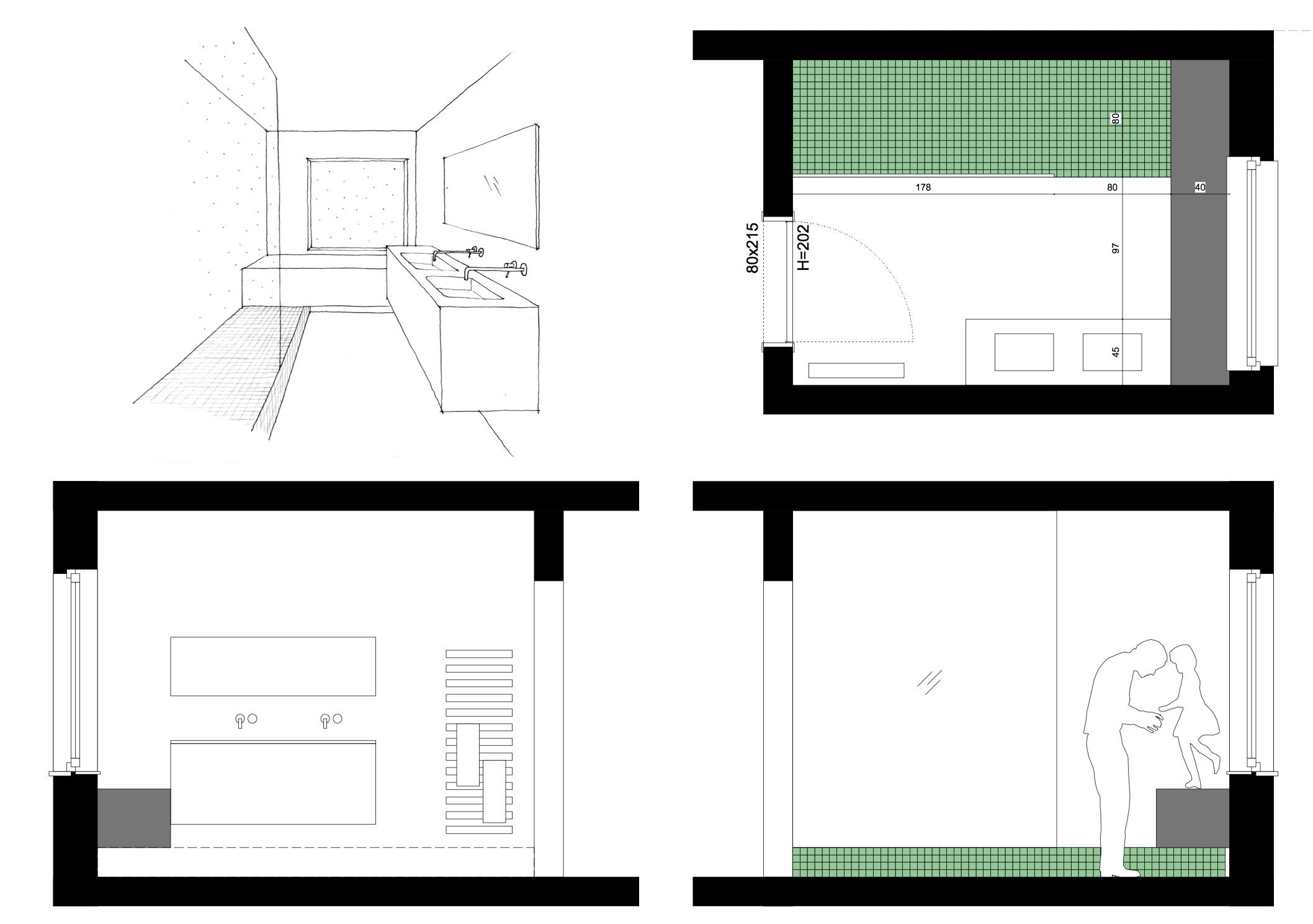 Tweestroom architecten for Badkamer plannen in 3d